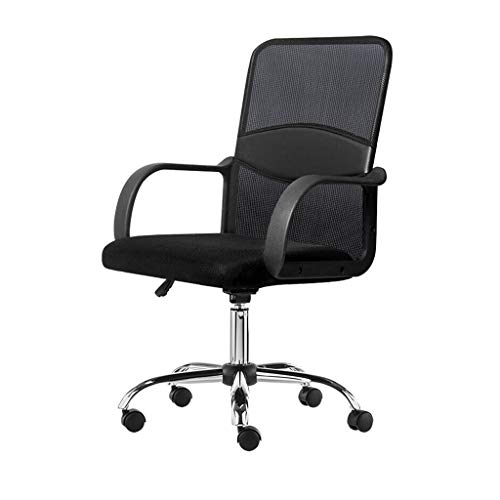 ciko Office Chair Ergonomic Desk Chair Mesh Computer Chair Lumbar Support Modern Executive Adjustable Stool Rolling Swivel Chair for Back Pain, Black