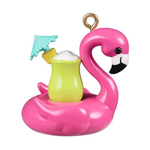 Hallmark Keepsake Christmas Ornament 2020, Mini Flamingo Floatie, 0.8'