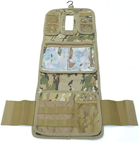 Military Molle Equipped Toiletry Bathroom Camping Travel Wash Kit Bag MULTICAM product image