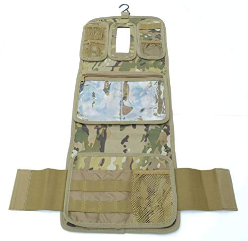 Military Molle Equipped Toiletry Bathroom Camping Travel Wash Kit Bag MULTICAM