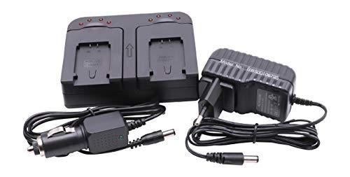 vhbw Dual Ladegerät kompatibel mit JVC Everio GZ- HM445REU, GZ-HM550, GZ-HM550BEU, GZ-HM650, GZ-HM650BEU Kamera Camcorder Action Cam-Akku - Ladeschale