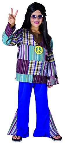 Rire Et Confetti - Fibhip003 - Déguisement pour Enfant - Costume Hippie - Garçon - Taille M