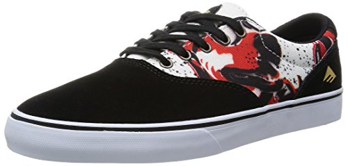 ZAPATOS EMERICA THE PROVOST SLIM VULC X MOUSE BLACK PRINT - 40