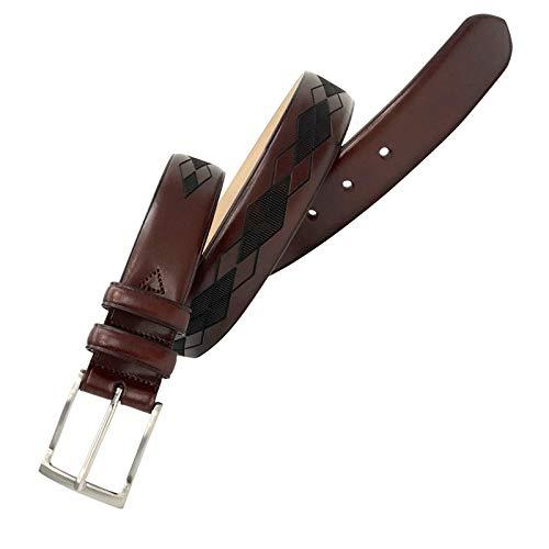Leyva - Cinturón de piel de Vaquetilla de hombre (110 cm)