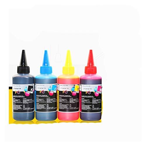 Cartucho de tinta Conjunto de tinta de reposición, adecuado para Epson, adecuado para Canon, adecuado para HP, adecuado para la tinta de la impresora y tinta de tinte de la impresora que se puede llen