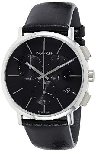 Calvin Klein Reloj Cronógrafo para Hombre de Cuarzo con Correa en Cuero K8Q371C1