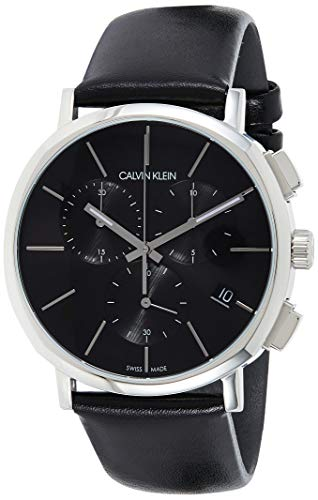 Calvin Klein Orologio Cronografo Quarzo Uomo con Cinturino in Pelle K8Q371C1