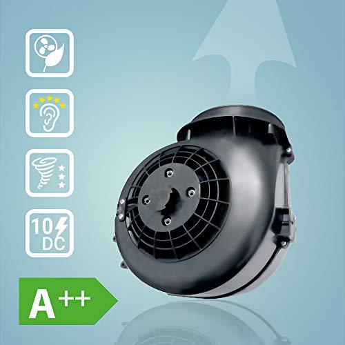 Premium-Dunstabzugshaube, Wandhaube (90cm, Edelstahl, schwarzes Glas, Extra-leise, WIFI, Energieklasse A++, 10 Stufen, LED-Beleuchtung, TouchSelect Sensortasten) FLAT9005ED – KKT KOLBE - 6