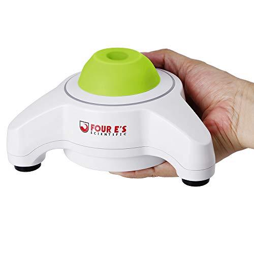 FOUR E\'S Scientific Triangel Mini Vortex Mixer Schüttler Touch-Modus Φ6mm Orbit 5600UpM 50mL, Blitzen LED-Arbeitslicht Laborschüttler für Laborteströhrchen