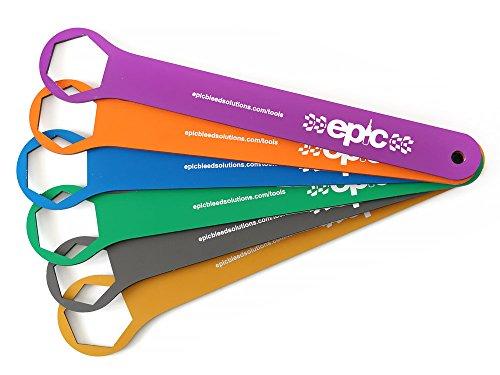 Platte schroefsleutel voor Fox Forx/RockShox verende voorvorken, Top Cap (Beta/ABBEY/Unior/Push) zonder schuine randen, 6 gereedschappen voor het onderhoud van je verende vork.
