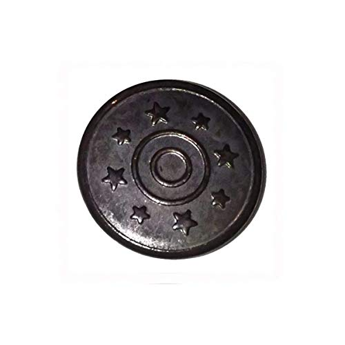 Trimming Shop 17 mm Gunmetal Jeans Knöpfe 8 Sterne mit Pins Ersatz Druckknöpfe für Jacken, Kleidung, Hosen, Nähen, Stricken, Basteln, Verzierungen, langlebig und stark, 8 Stück