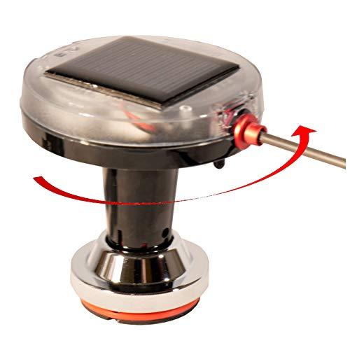 BirdBoggle-Boots-Set, Möwenabwehr, solar Powered Bird Repeller, Mikroprozessor gesteuerter, elektromechanischer Rotor mit Standfuss und Reling-Klemme