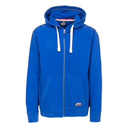 Trespass Full Zip Hoodie Pull, Azul, XL Homme