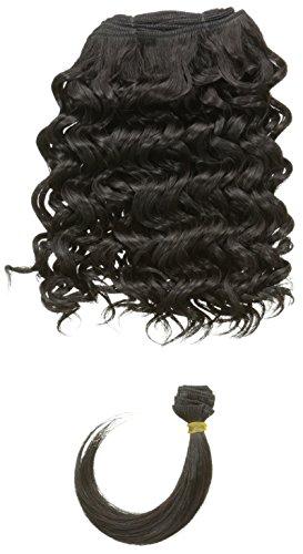 chear Disco Jerry trame Extension de cheveux humains avec de mélange tissage, numéro 1b, Off Noir), 25,4 cm