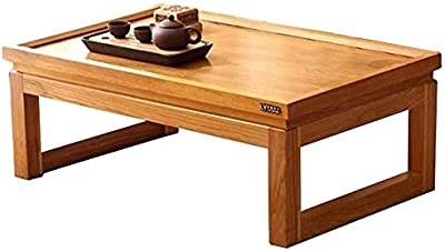 Coffee Table Living Room Furniture Living Room Coffee Table, Bay Window Table Coffee Table kung fu Tea Table Wood Coffee Table Balcony Small Coffee Tables (Color : Wood, Size : 60 * 40 * 25CM)