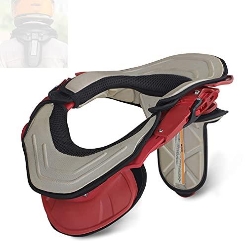 enweQVQ Protector Cuello Moto, Cuello Motocross Diseño Poroso Cómodo Y Duradero, Protector De Cuello para Motocicletas, Bicicletas, Patinaje,Rojo