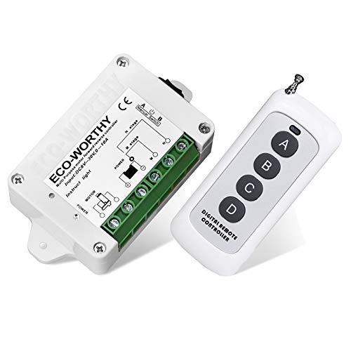 ECO-WORTHY Wireless Motor Controller, Wireless Remote Positive Inversion Control Kit for Linear Actuator, Forward Reverse Remote Control System 12V DC