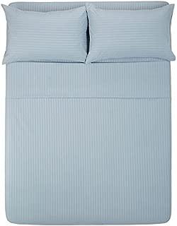 Exotic Bedware 1800 Series Brushed Microfiber Split Queen Sheet Set for Adjustable Beds - Stripe Blue
