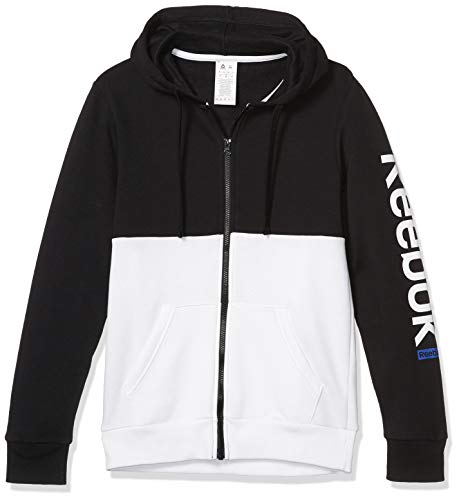 Reebok Training Essentials Full Zip Hoodie, White, Small