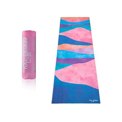 YOGA DESIGN LAB | The HOT Yoga Towel | Premium Non Slip Colorful Towel | Designed in Bali | Eco Printed + Quick Dry + Mat Sized | Ideal for Hot Yoga, Bikram, Ashtanga, Sport, Travel! (Mexicana)
