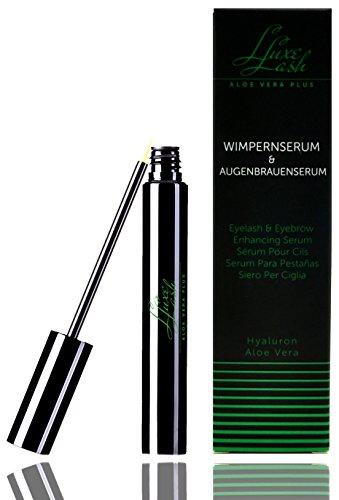 Wimpernserum & Augenbrauenserum 4 ml. Luxe Lash Aloe Vera+ I Schnelleres Wimpernwachstum für lange Wimpern I Zur Verlängerung der Wimpern und Augenbrauen