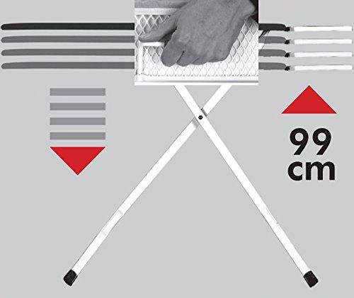 """XXL Eurogold Profi Bügeltisch """"Professional Harmony"""" 130 x 48 cm – mit absenkbarer Ablage für Dampfstationen – Qualität Made in Europe - 5"""