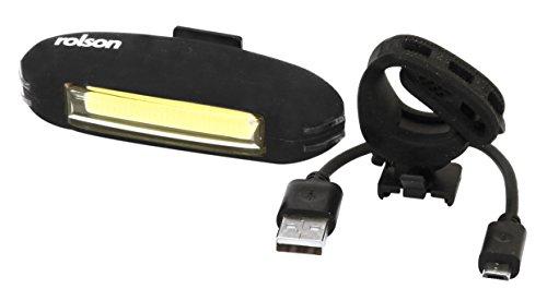 Rolson 61612 Luz Delantera de Bicicleta Recargable por USB,