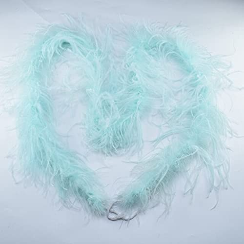 Zamihalaa 2Yards Natural 100% quality warranty Colored Ostrich Boa Feathers Clot Plume mart
