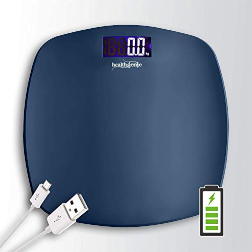 Healthgenie Ultra-Lite USB Rechargable Digital Personal Body Weighing Scale, Strong & Best...