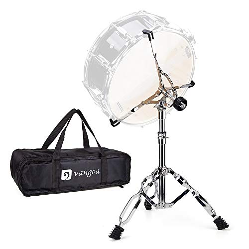 """Snare Drum Stand Lightweight Double Braced Adjustable Height with Carrying Bag Fit 10"""" to 15"""" Dia Drums"""