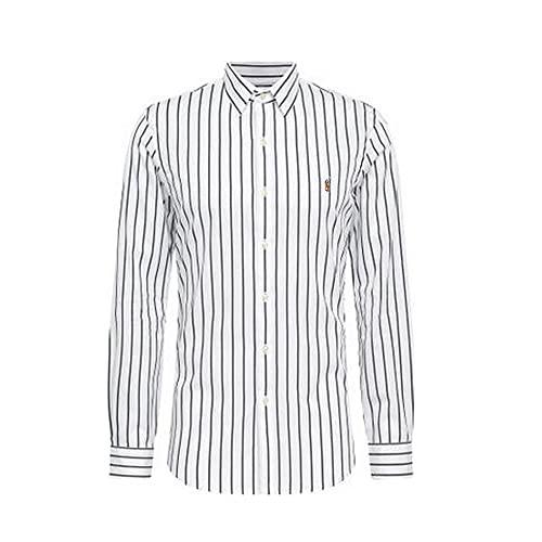 Ralph Lauren Polo Chemise Oxford Slim Fit à Rayures (XL, Ash/White)