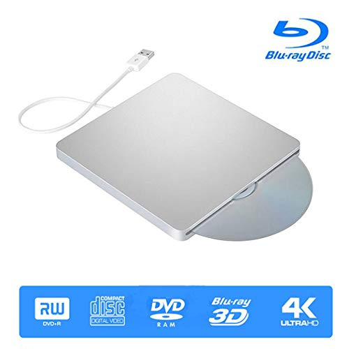 Externe 3D 4K Blu ray CD dvd-drive, USB 3.0 Blu-ray combo BD-ROM-speler voor Apple Mac/pc/MacBook Pro Air Windows 10/7/8