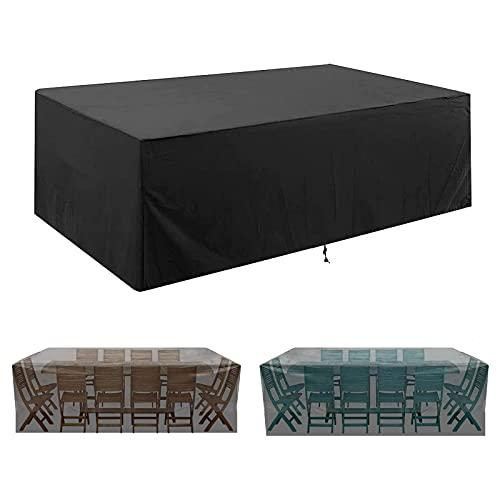 WILD + Copertura per Mobili da Giardino, Copertura Tavolo Esterno 420D Tessuto Oxford Coperture per Mobili da Esterno, Copri Mobili per Esterno Copertura Impermeabile Anti-UV (180 * 120 * 74 cm)