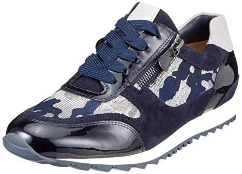 Hassia Damen Barcelona, Weite H Sneaker, Blau (Blue/Stone 3268), 40 EU