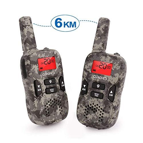 Opard Walkie Talkie für Kinder Funkgeräte Set und Outdoor-Reisen 0,5W 8 Kanäle VOX Taschenlampe mit LCD-Display (2er-Set)
