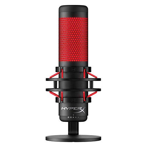 HyperX QuadCast USB Condenser Gaming Microphone for PC, PS4 and Mac (Renewed)