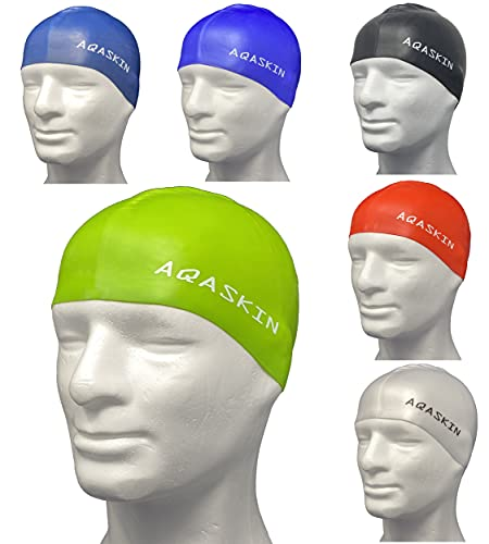 AQASKIN Cuffie Nuoto Professionali in Silicone PRO Bielastico - SCONTI QUANTITÁ - Piscina, Acquagym, Sport Acquatici - Adulti e Ragazzi - Quantità 25-50-100 pz. (Verde, Pack da 1 pz.)