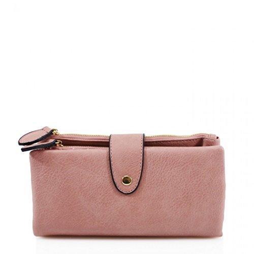 LeahWard Women's Soft Faux Leather Purse Wallet for Women...