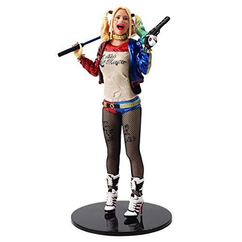 zdfgv Suicide Squad Harley Quinn Figura de acción Harley Quinn con Martillo y Pistola Juguetes de Modelos coleccionables 18cm