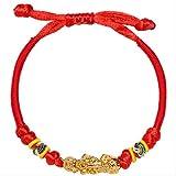 Handgestricktes Wickelarmband Mit Rotem Seil