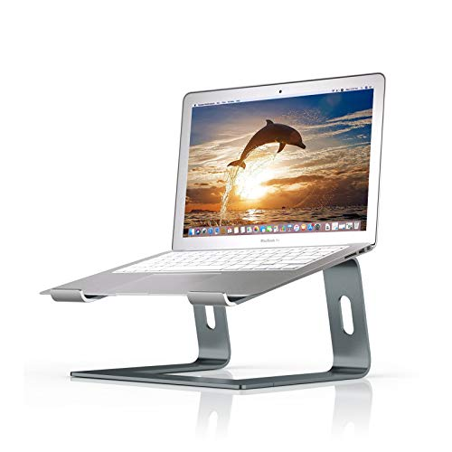 BoYata Laptop Stand: Dismountable with Ventilation, Portable Notebook Stand Compatible with Laptop (10 inch ~ 15.9 inch) MacBook Pro/Air, HP, Dell, Lenovo, Samsung, Acer, HUAWEI MateBook (Gray)