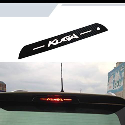 NTUOO 1Pcs Carbon Fiber Car Sticker Bremslicht, für Ford Kuga Escape 2013 2014 Kofferraum High Mount Bremsleuchte Leuchtende Aufkleber, Auto Styling Zubehör