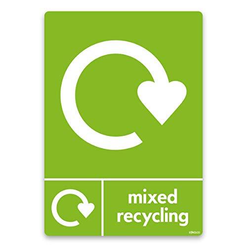 Poubelle de recyclage Tri sélectif vinyle autocollant maintenant 10 x 15 cm
