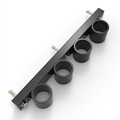 BCGT Rack Deportivo Aptitud Barra Barra Barra Rack Rack, Barra for Pesas Rack de Almacenamiento en Rack Rack Agujero Grande de la Tableta de Almacenamiento (Color : Black, Size : B)