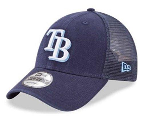 New Era MLB Tampa Bay Rays Baseball Hat Cap 940 Trucker Snapback 11591190 Navy