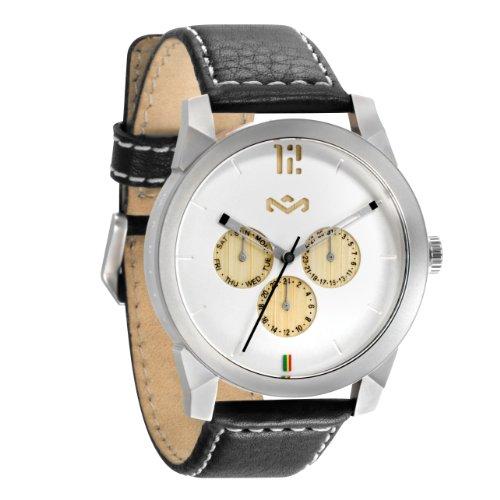 House of Marley Unisex-Armbanduhr Chronograph Quarz Uhr WM-FA005-IO Billet Leather Iron
