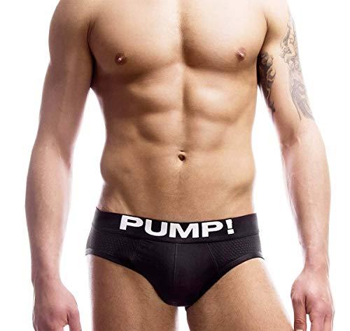 Pump! Mesh Slip Touchdown Classic 12007 - Calzoncillo Slip, Color Negro