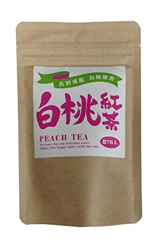 長野県産白桃使用 白桃紅茶ティーバッグ 2g×8個