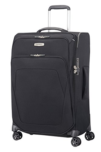 Samsonite Spark SNG Spinner M Valigia Espandibile, 67 cm, 82 L, Nero (Black)