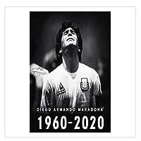 Suuyar 1960-2020ノスタルジアクラシックレトロポスターディエゴマラドーナは1980年代に世界で最高のサッカー選手として広く認められました-50X70Cmフレームなし